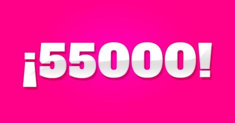 Llegamos a 55.000 seguidores en Facebook