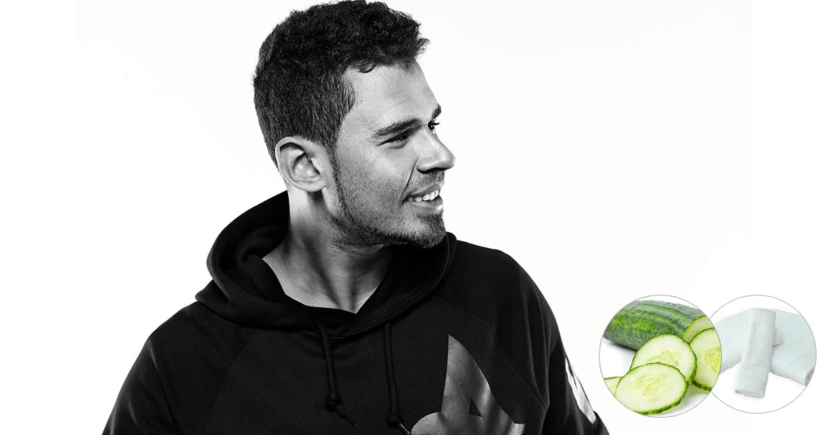 The Afrojack's rider: Cucumbers and not-fluffled towels