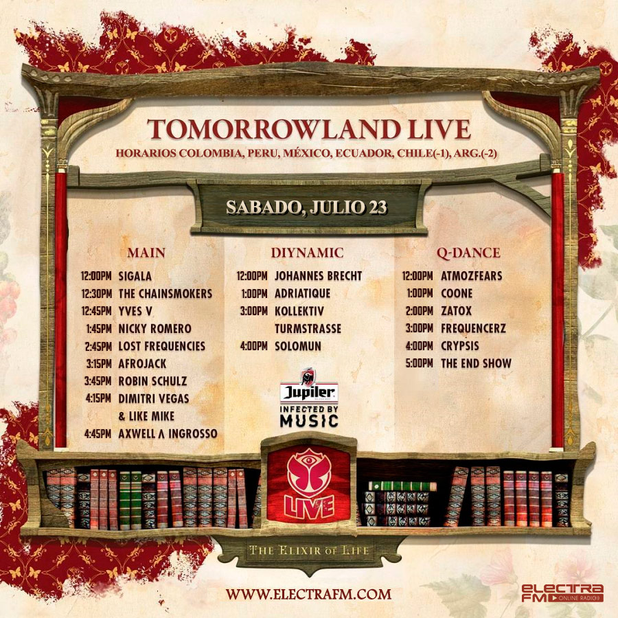 Horarios latinoamérica y Line-up final Tomorrowland Europa 2016