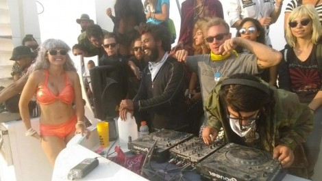 El set house de Skrillex en el Burning Man Festival
