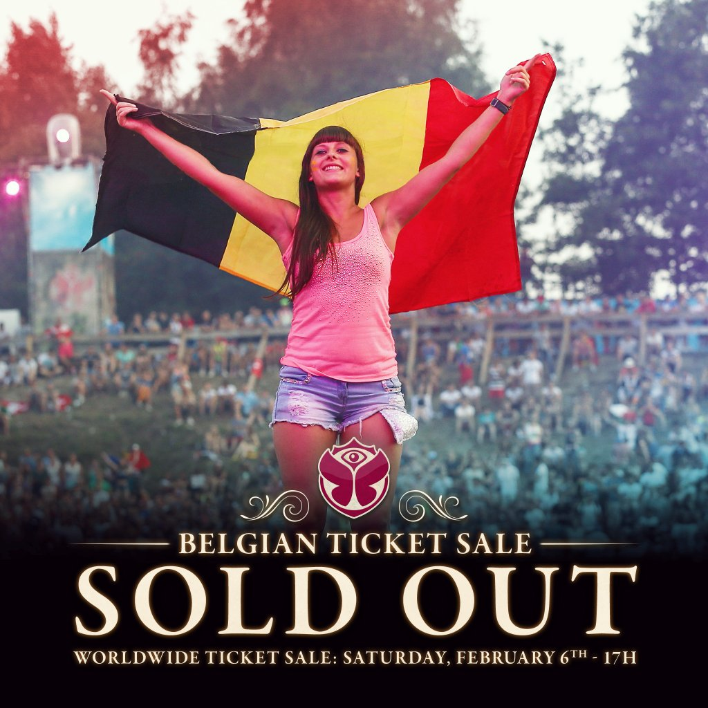 sold out tomorrowland belgica 2016